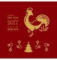 Card 2017 Happy New Year Chinese Zodiac Rooster vector image