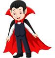 cartoon happy vampire vector image vector image