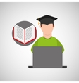 character graduation e-learning online education vector image vector image