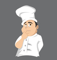 chef thinking vector image vector image