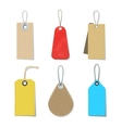 Colored Labels And Tags Set vector image vector image