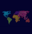 colourful world vector image