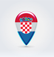 Croatian icon point for map vector image vector image