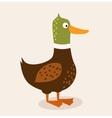 cute cartoon chicken vector image vector image