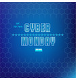 cyber monday vector image vector image