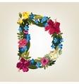 D letter Flower capital alphabet Colorful font