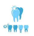 Dental hygiene Isolated teeth on white vector image vector image