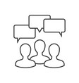 discussion outline icon vector image vector image
