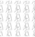 doodle seamless pattern with sketch hand and phone vector image vector image
