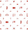 ear icons pattern seamless white background vector image vector image