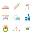 flat icon baby set of tissue napkin cream with vector image vector image