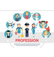 flat professional workers concept vector image vector image
