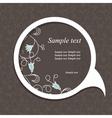 floral speech bubble dark4 vector image vector image