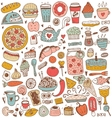 Food sketch elements collection vector image vector image