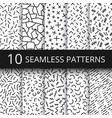 funky memphis seamless patterns 80s vector image