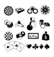 gambling card games and different casino vector image