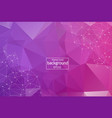 geometric purple polygonal background molecule vector image vector image