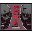 Halloween zombie party banner vector image