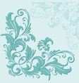 hand drawn decorative floral vector image vector image