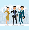 happy business people vector image
