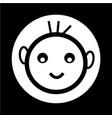 happy kid icon vector image vector image