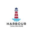 harbour beach sea logo and icon design vector image vector image