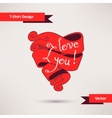 I love you T-Shirt Design Template for your design vector image vector image