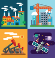 Industry landscapes and new technology vector image vector image