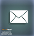 Mail envelope icon On the blue-green abstract vector image