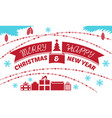 merry christmas concept banner simple style vector image