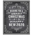merry christmas invitation and happy new year vector image vector image