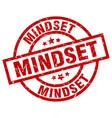 mindset round red grunge stamp vector image vector image