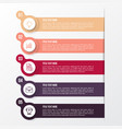 modern color infographic template vector image
