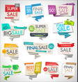 modern sale banners and labels collection 2 vector image