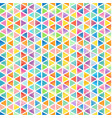 mosaic rainbow polygonal pattern watercolor vector image