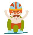 moustache wrestler vector image vector image