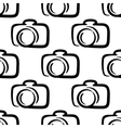 Outline camera seamless pattern background vector image