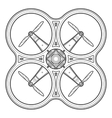 outline quadcopter drone vector image vector image
