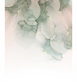 pastel blue paint with gold marble ink watercolor vector image