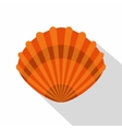 Pearl shell icon flat style vector image vector image