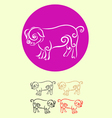 Pig decor vector image vector image