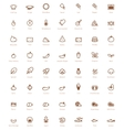 Pizza icon set vector image vector image