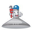 plumber kitchen hood cartoon the for cooking vector image vector image