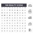 realty line icons signs set outline vector image