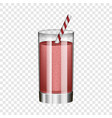 red smoothie in glass mockup realistic style vector image vector image
