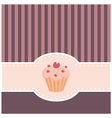 retro muffin cupcake invitation vector image