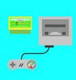 retro video game console vector image vector image