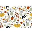seamless pattern with vegetables isolated vector image