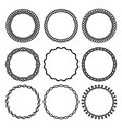set of round twisted frame 2 vector image vector image