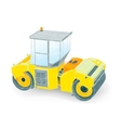 small yellow paver vector image